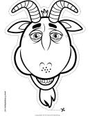 Goat Mask Outline Template