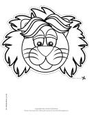 Lion Mask Outline Template