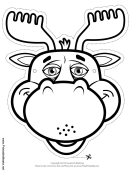 Moose Mask Outline Template