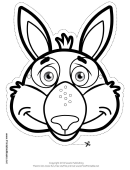 Kangaroo Mask Outline Template