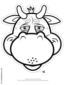 Bull Mask Outline Template