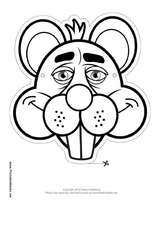 Beaver Mask Outline Template