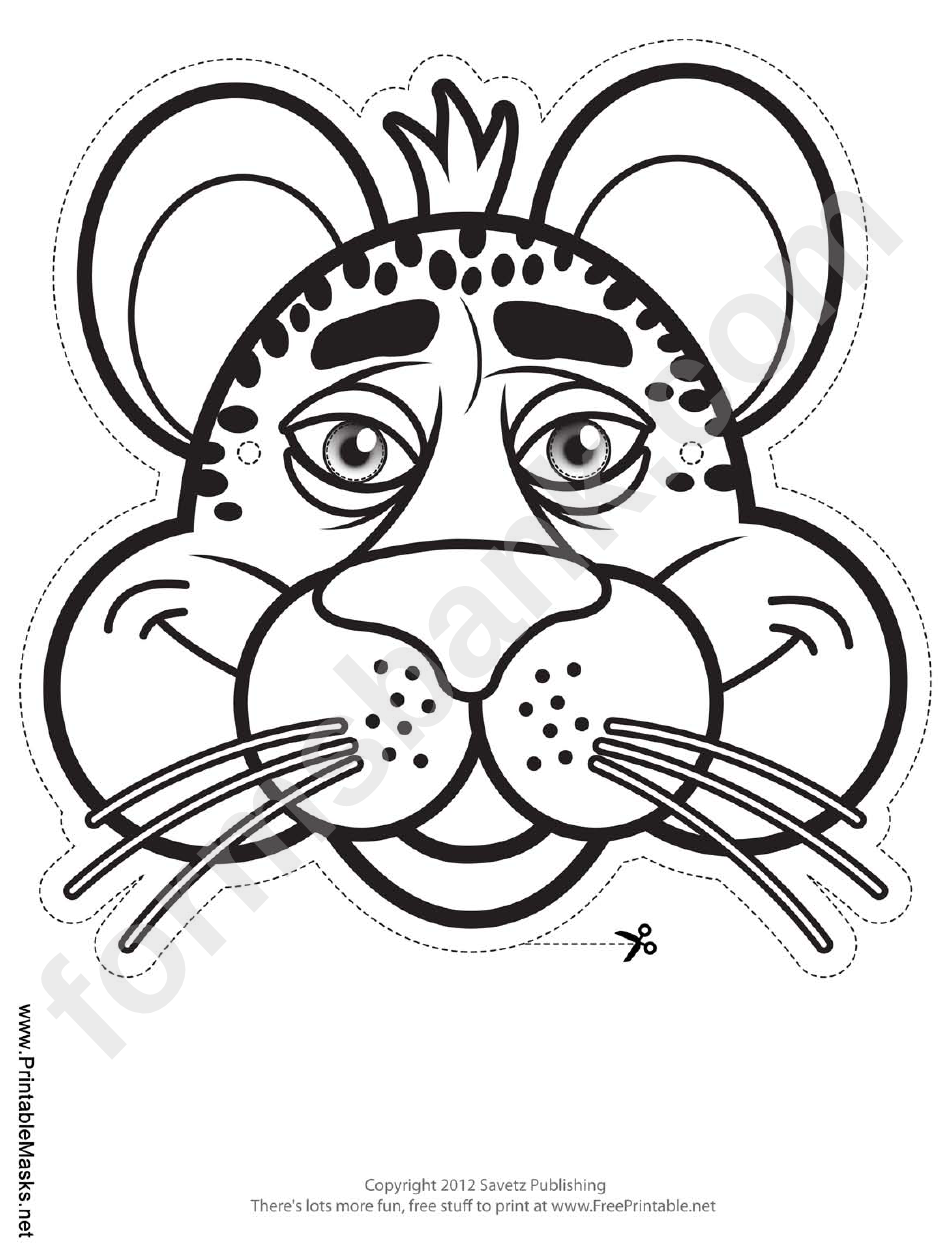 Cheetah Face Mask Template Image collections - Template Design Ideas