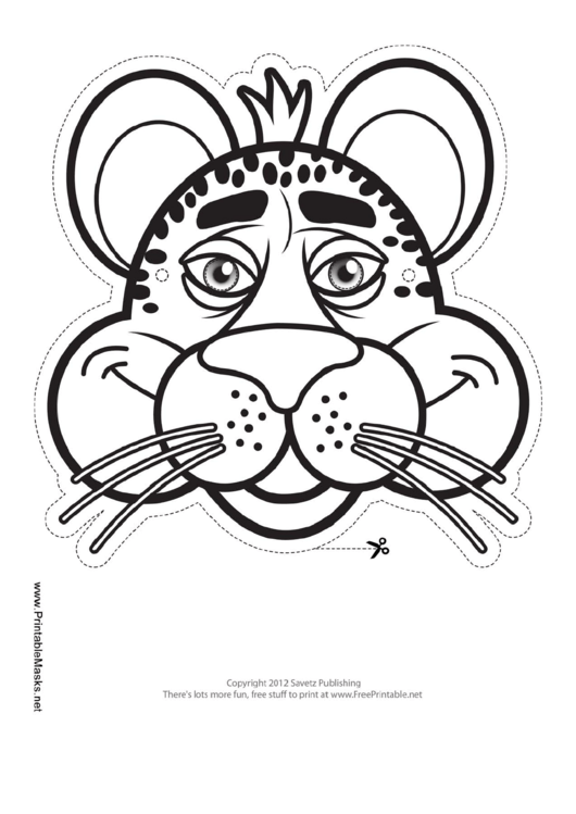 Top 6 Cheetah Mask Templates free to download in PDF format