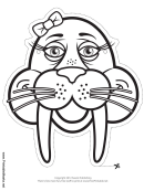 Walrus Bow Mask Outline Template