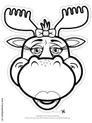 Moose Bow Mask Outline Template