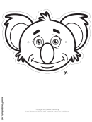 Koala Mask Outline Template