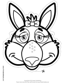 Kangaroo Bow Mask Outline Template