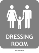 Family Dressing Room Sign Template