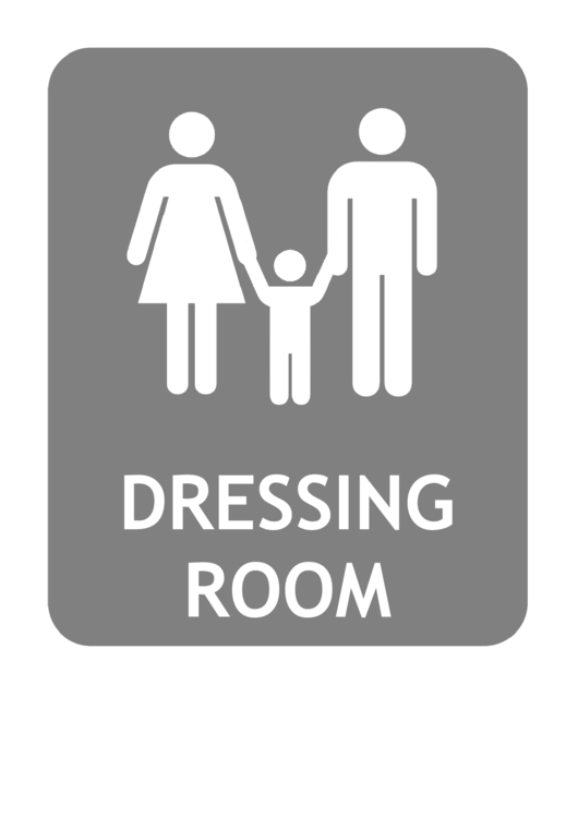 Family Dressing Room Sign Template Printable pdf