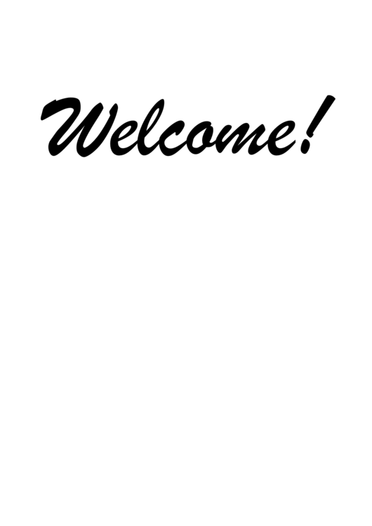 13 Welcome Sign Templates free to download in PDF, Word and Excel