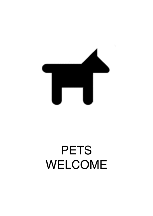 Pets Welcome Sign Template