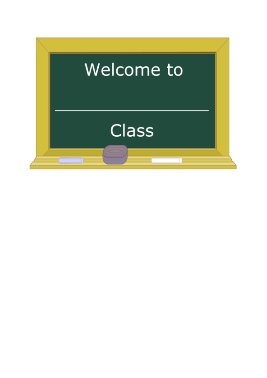 Welcome Class Sign Template