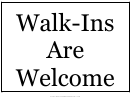 Walk Ins Welcome Sign Template