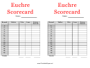 Euchre Score Card Template Double