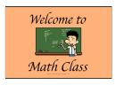 Welcome To Math Class Cartoon Sign