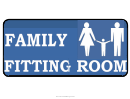 Family Fitting Room Sign Template