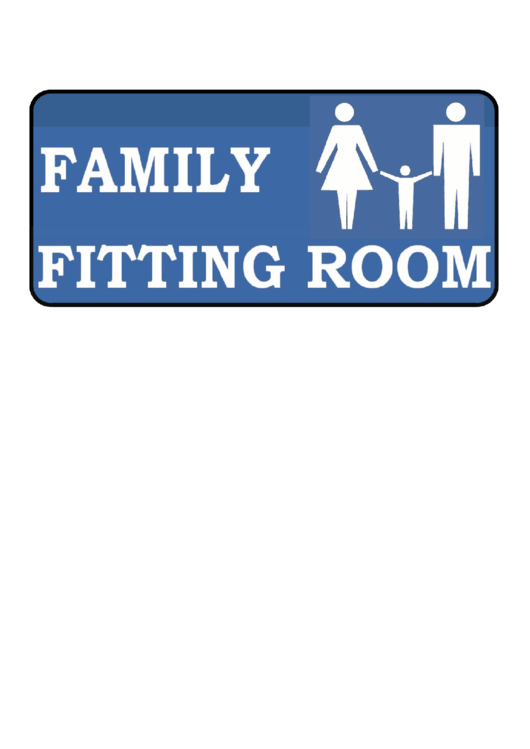 Family Fitting Room Sign Template Printable pdf