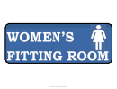 Womens Fitting Room Sign Template