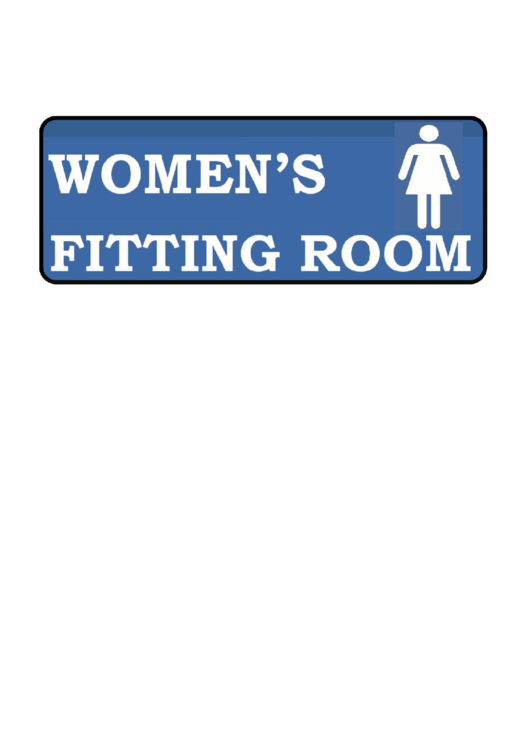 Womens Fitting Room Sign Template Printable pdf