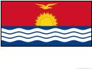 Kiribati Flag Template