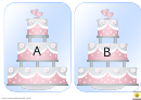 Wedding Cake Alphabet Template - Uppercase Letters