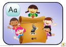 Happy Children Alphabet Frieze Template