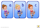 Highland Dancers Alphabet Template - Lowercase Letters