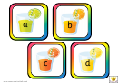 Summer Drinks Alphabet And Phonics Cards Template