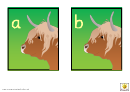 Highland Cow Alphabet Template - Lowercase Letters