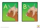 Highland Cow Alphabet Template - Uppercase Letters