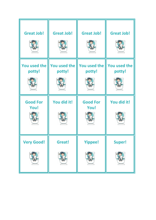 Boy Potty Coupons Template