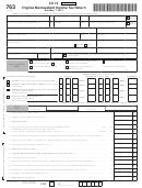 Form 763 - Virginia Nonresident Income Tax Return - 2013