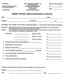 Form Wv/brw-01 - Brewer / Importer / Manufacturer Barrel Tax Return