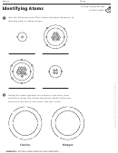 Identifying Atoms Activity Sheet