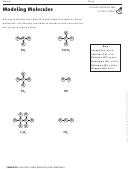 Modeling Molecules Activity Sheet
