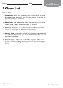 A Closer Look Biology Worksheet