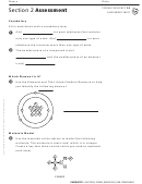 Atoms, Molecules, And Compounds Assessment Sheet