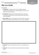 Out On A Limb Biology Worksheet