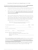 Instructions For The Sixth Judicial Circuit Local Family Law Form - Moving Party For Setting Hearings Via U.s. Mail