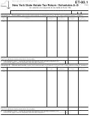 Form Et-90.1 - Schedules A-d - New York State Estate Tax Return