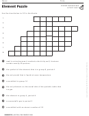 Element Puzzle Activity Sheet