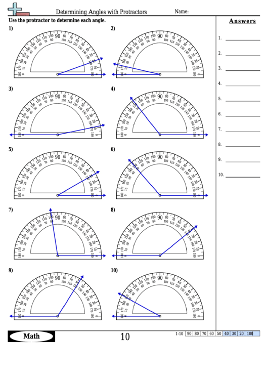 photograph relating to Protractor Printable Pdf named Pinpointing Angles With Protractors - Frame of mind Worksheet With
