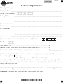Montana Form 2101 - W-2 Withholding Declaration