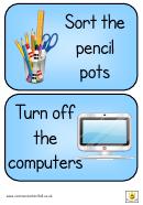English Helpwr Heddiw Classroom Poster Template