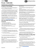 Form 1040-es - Estimated Tax For Individuals - 2013
