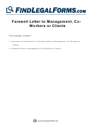 Farewell Letter To Management, Coworkers Or Clients