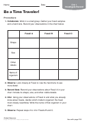 Be A Time Traveler Biology Worksheet