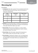 Warming Up Physics Worksheet