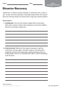 Disaster Recovery Geography Worksheet